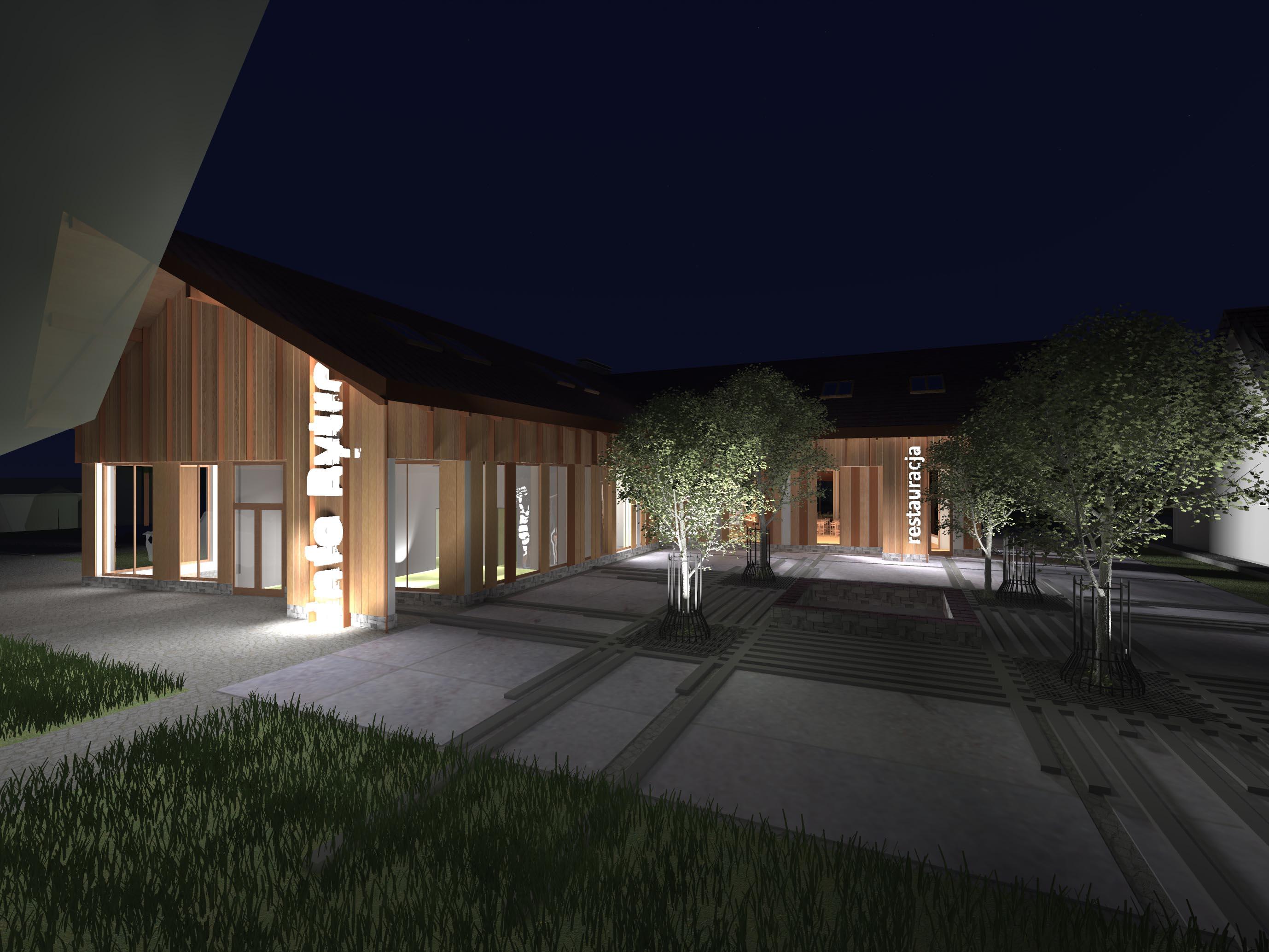 Projekt centrum gminy Rytro