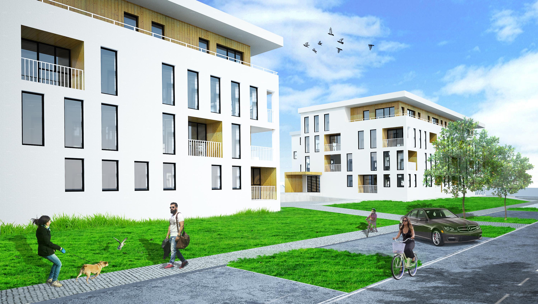 Osiedle mieszkaniowe - budynki wielorodzinne