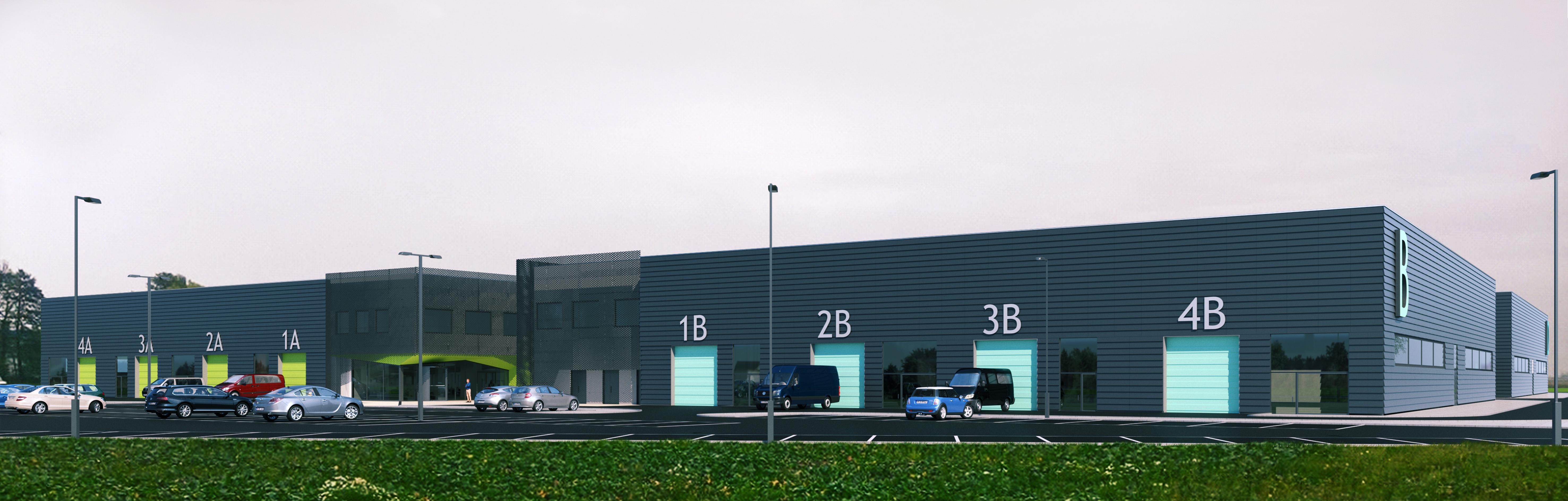 Akcelerator biznesowy - kompleks modularnych hal przemysłowych